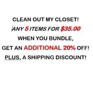 Huge sale! Clean out my closet!